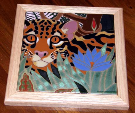 Asian Leopard Cat tile, gift from treasured customers!