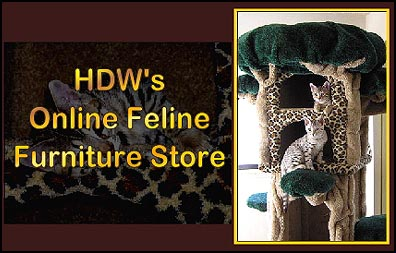 Cat Scratching Posts, Cat Trees, Condos, Custom Play Furniture and MORE - Welcome to HDW's On-Line Feline Furniture Store!