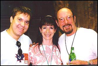 Ian Anderson of Jethro Tull with his wife Shona, and my son Wesley discussing Bengal Cats in 1998!